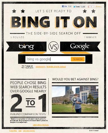 Bing, Google' a Karşı: bingiton.com