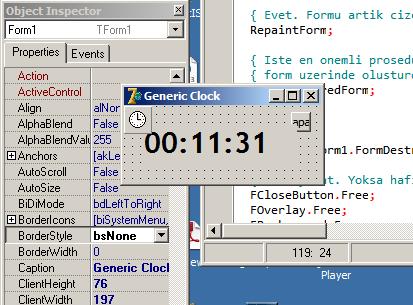 Delphi ile Generic Clock Tasarımı