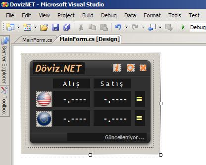 Döviz.NET Tasarım Aşaması