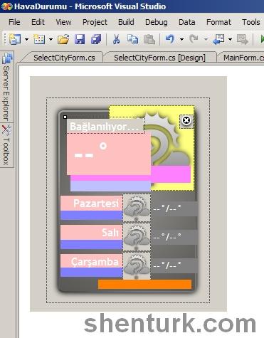 C# ile Hava Durumu Programı Tasarım Aşaması