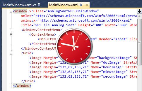 WPF ve C# ile Analog Saat