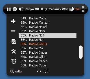 Radyo ODTU Ekran Görüntüsü