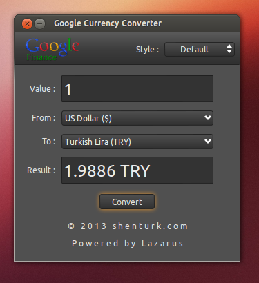 Google Currency Converter 1.0 Linux
